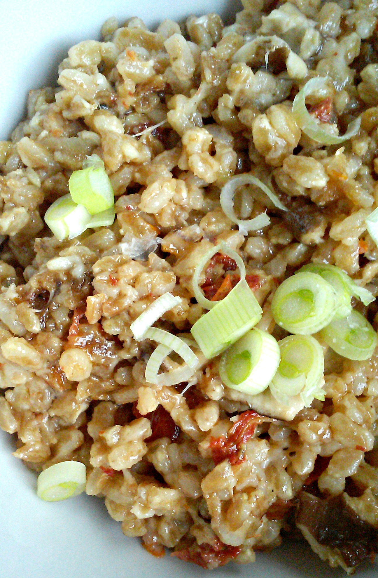 Farro Risotto with Mushrooms and Sundried Tomatoes – She's ...